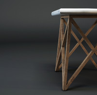 Criss Cross Wood & Aluminium table