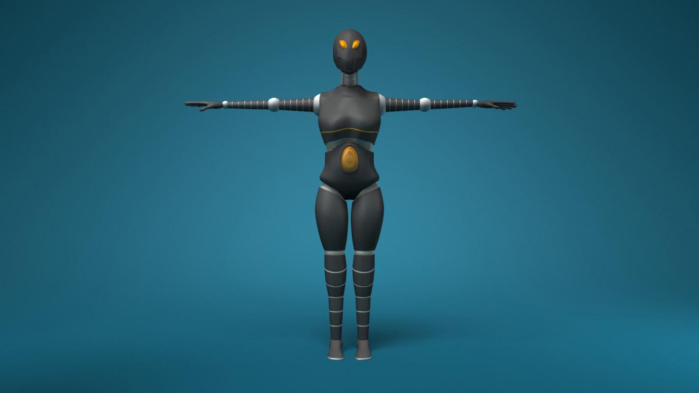 sci-fi female robot ma free