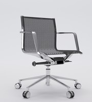 aluminia office chair operative 3d max