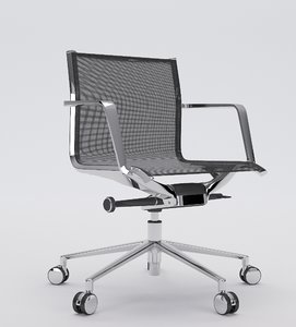 aluminia office chair operative 3d max