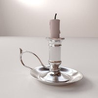 candlestick candle stick 3d 3ds