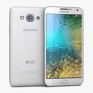 3d samsung galaxy e7 white model