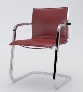 aluminia office chair visitor 3d max