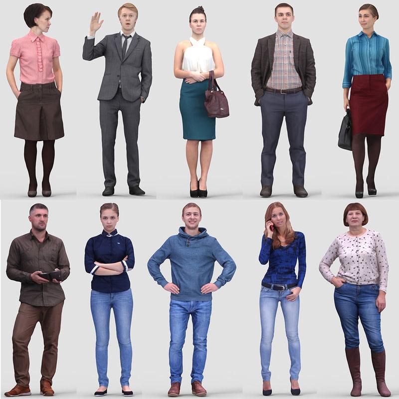 3d realistic humans model