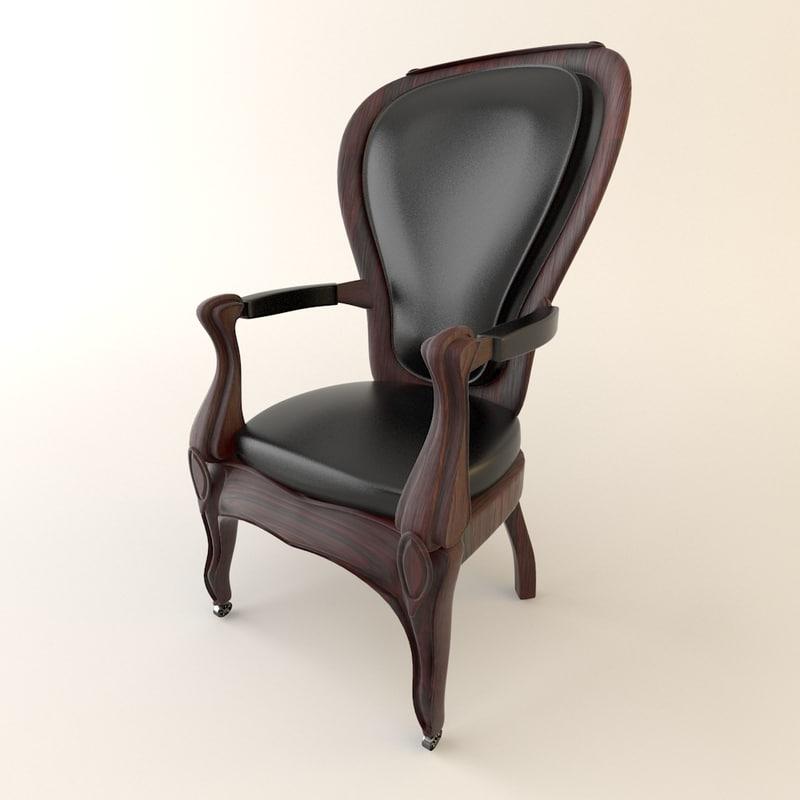 3dsmax vintage armchair furniture chair