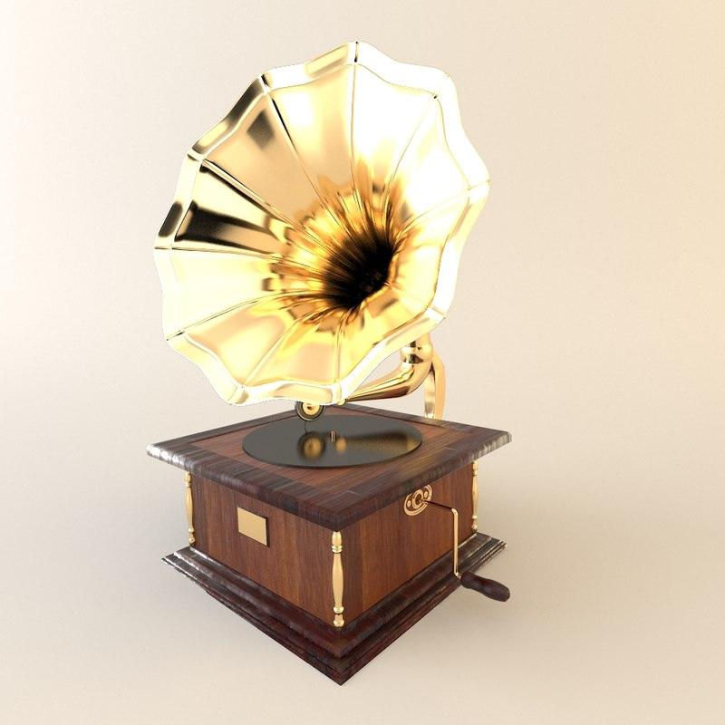 phonograph furniture gramophone obj