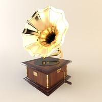 phonograph furniture gramophone obj