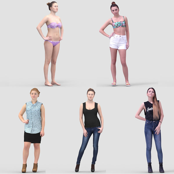 3ds max realistic summer humans