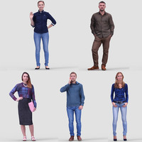 3D Human Model Vol. 3 Casual Standing People (2)