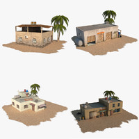 pack arab building 3d model