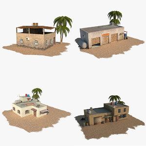 pack arab building 3d model