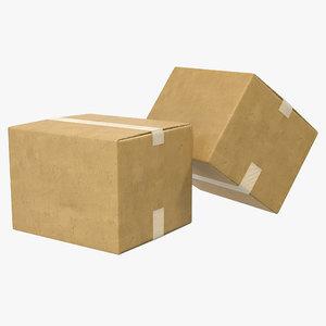 3ds max cardboard box 2