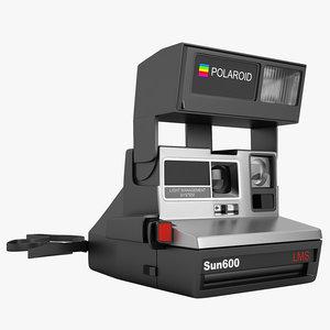 3d model polaroid sun 600