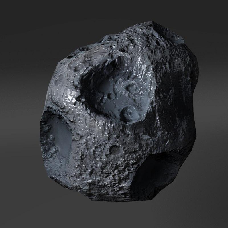3d model asteroid meteorite meteor