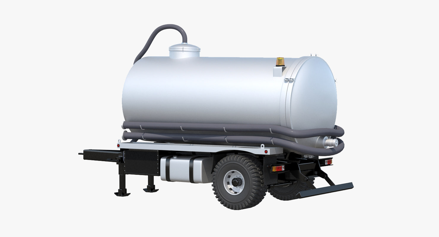 septic tank trailer 3d max