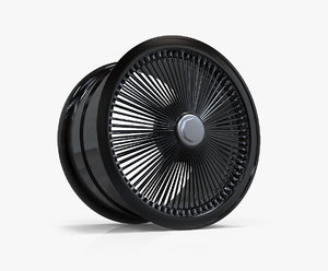 3d black dayton wheel model