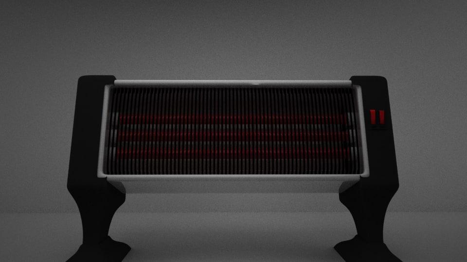 3d heater model
