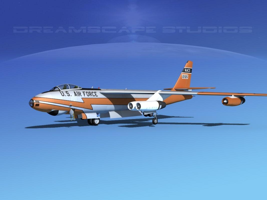 stratojet boeing b-47 bomber 3d model