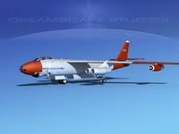 stratojet boeing b-47 bomber dxf