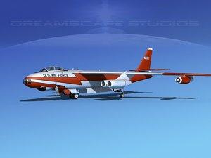 3d stratojet boeing b-47 bomber model