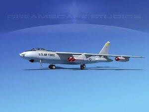 3d model stratojet boeing b-47 bomber