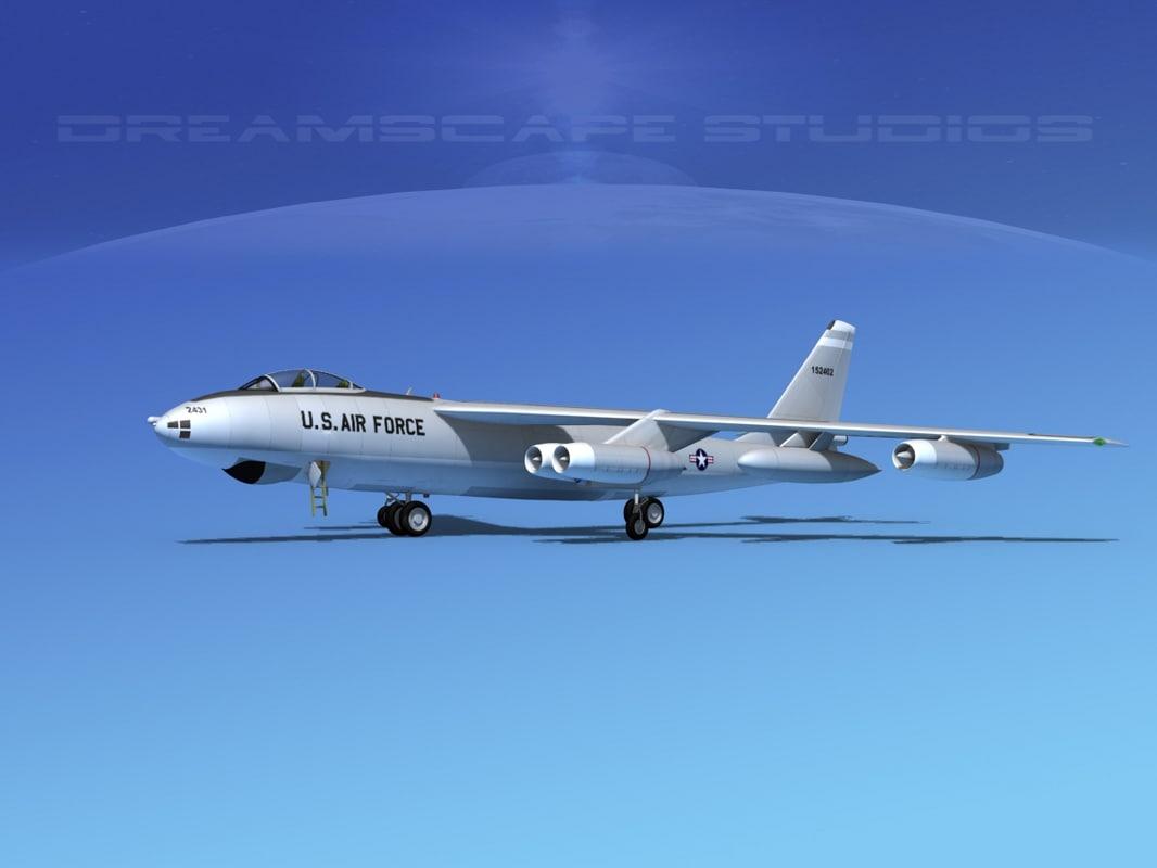stratojet boeing b-47 bomber 3d 3ds