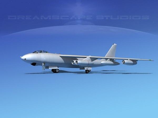 3d model stratojet boeing b-47
