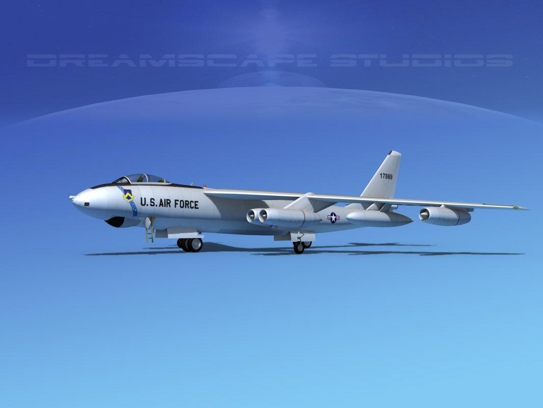 3d max stratojet boeing b-47 bomber
