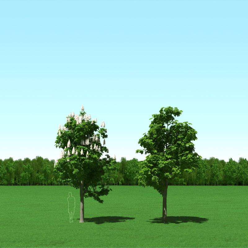 3d trees modelling
