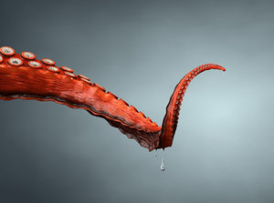 rigged tentacle 3d model