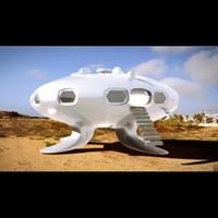 ufo flying saucer 3d c4d