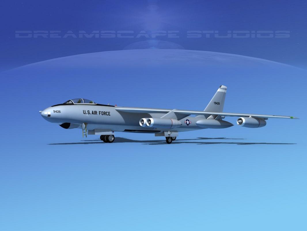3ds max stratojet boeing b-47 bomber