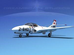 t-37 cessna tweet 3d model