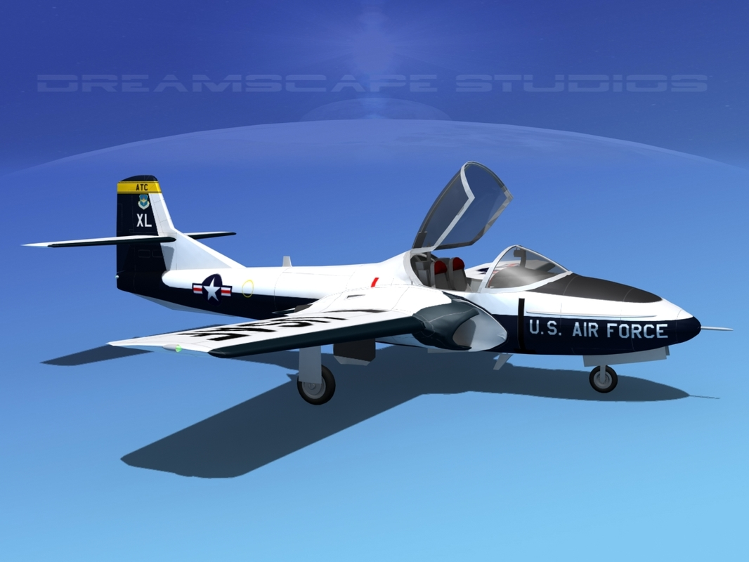 3d model of t-37 cessna tweet