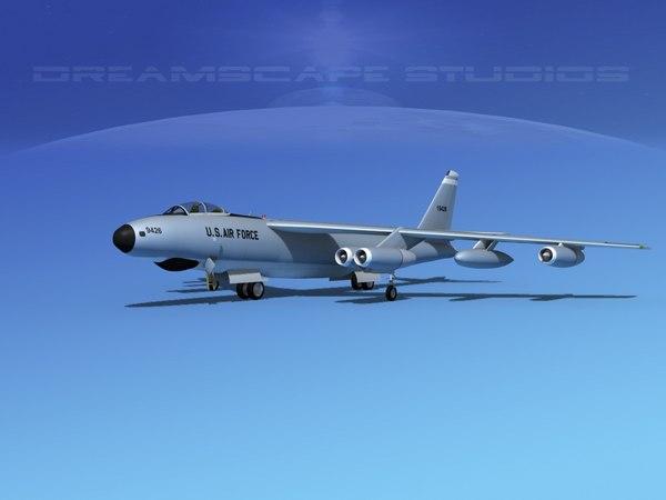 3d model stratojet boeing b-47 rb-47e