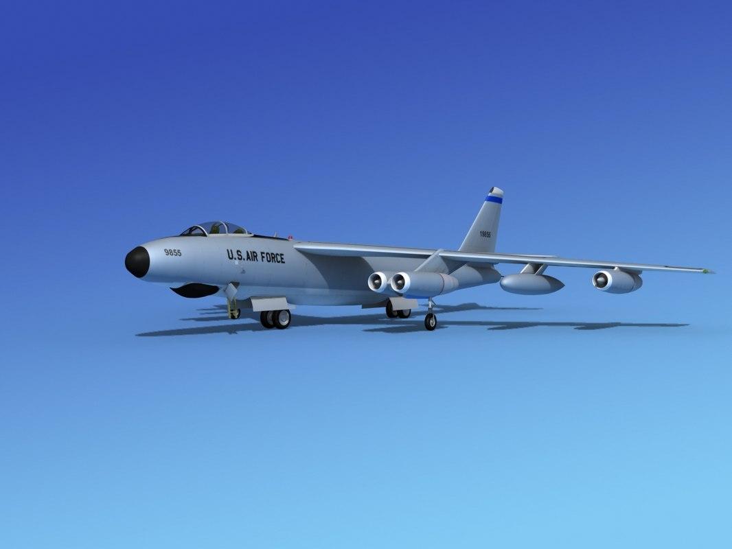 3d obj stratojet boeing b-47 rb-47e