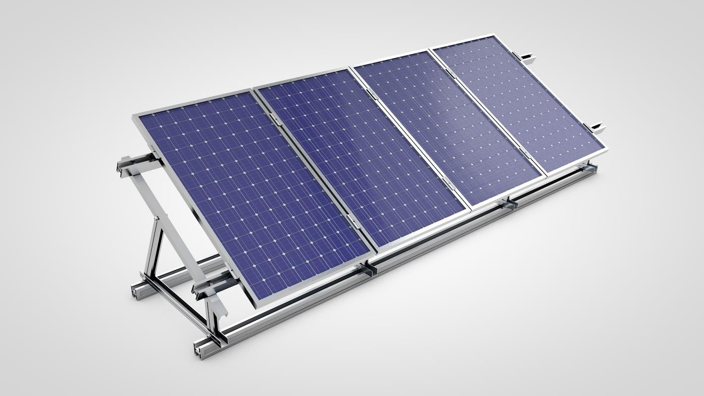 solar panel c4d