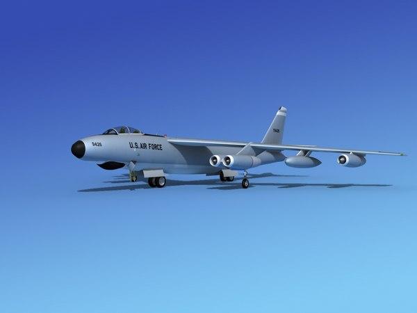 stratojet boeing b-47 3d model