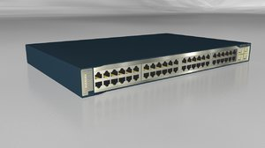 3d model network switch