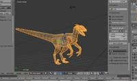 blender velociraptor mesh