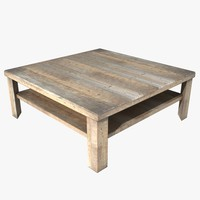 square coffee table 3d model