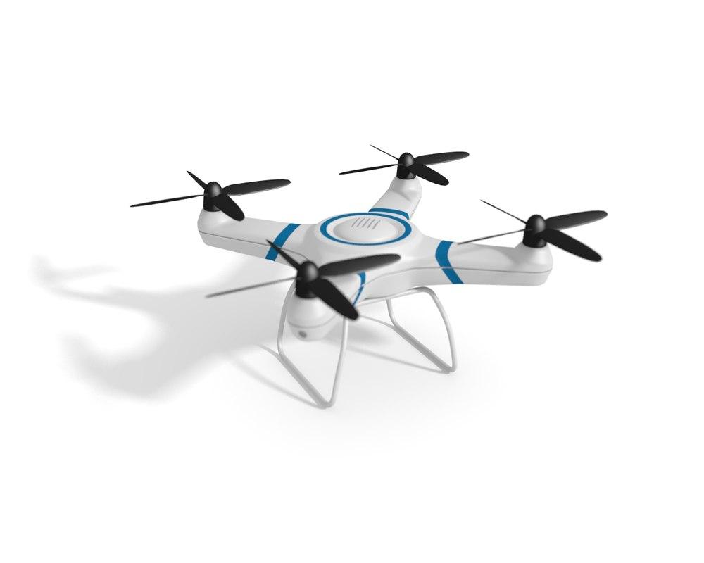 quadcopter drone 3d obj