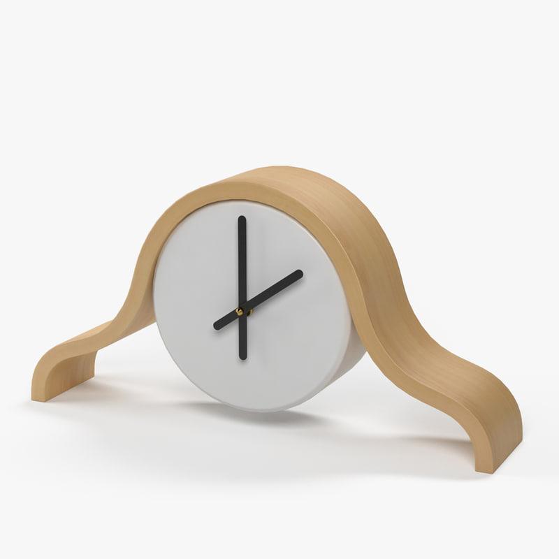 max modern mantel clock