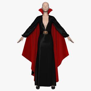 3d model dress cloak