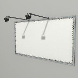 3d model wall billboard