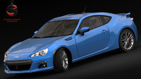 subaru brz 2015 3d model