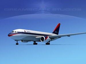 3d boeing 767 767-100