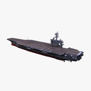uss aircraft carrier 3d model