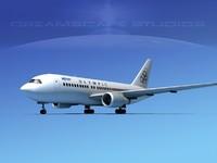 boeing 767 767-100 3d model