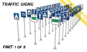 3d czech traffic road signs model